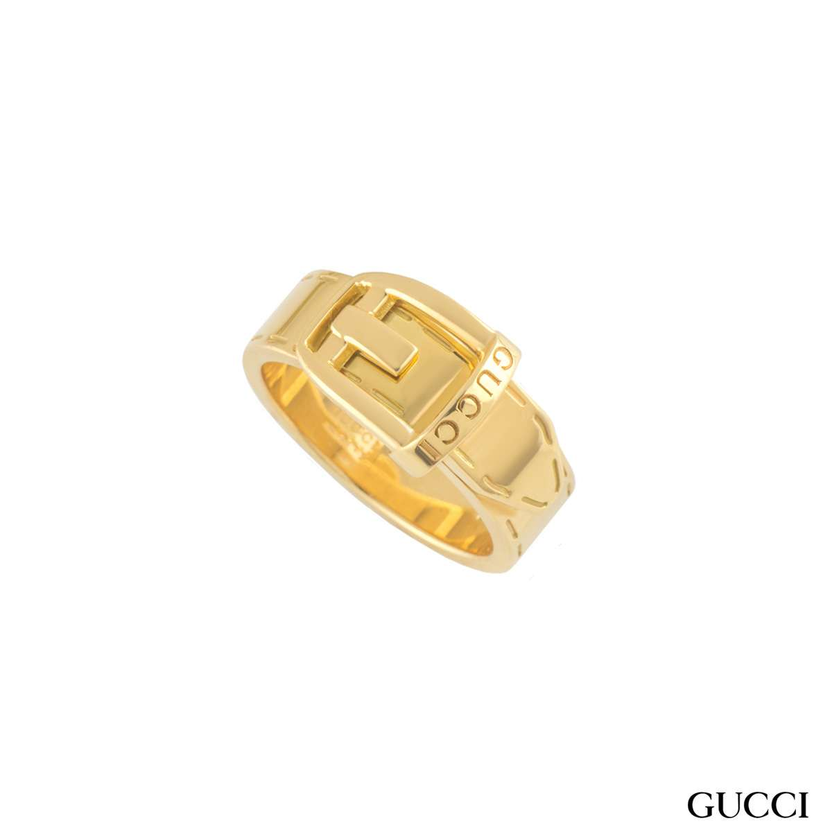 Gucci Yellow Gold Buckle Ring